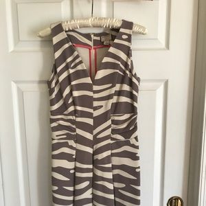Banana Republic Issa Collection Zebra print dress